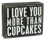 Cupcakes Box Sign Znak drewniany