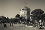 Greece, Central Macedonia, Thessaloniki, the White Tower Photographic Print by Walter Bibikow