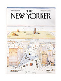 The New Yorker Cover, View of the World from 9th Avenue - March 29, 1976 Metal Print by Saul Steinberg