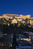 Central Greece, Athens, Acropolis, Elevated View, Dusk Photographic Print by Walter Bibikow