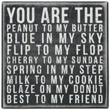You Are The Peanut Box Sign Znak drewniany