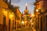 Cobblestones of Aldama Street, San Miguel De Allende, Mexico Papier Photo par Chuck Haney