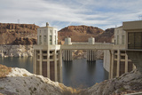 Hoover Dam Intake Towers on Lake Mead, Nevada Border, United States Photographic Print by Susan Pease