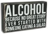 Alcohol Box Sign - Ahşap Tabela