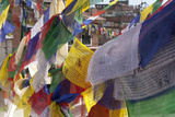 Bodhnath, Nepal. Prayer Flags Decorate the Stupa Photographic Print by Charles Cecil