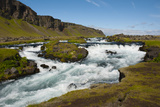 Iceland. South Region. Brunasandur. Rapids in the Odulbruara River Photographic Print by Inger Hogstrom