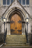 Wooden Doors at Entrance to Trinity Presbyterian Church, Cork, Ireland Photographic Print by Brian Jannsen