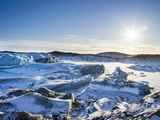 Svinafellsjoekull Glacier in Vatnajokull National Park During Winter Photographic Print by Martin Zwick