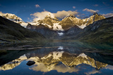 Mount Yerupaja Reflects in Lake Huayhuish, Andes Mountains, Peru Photographic Print by Howie Garber