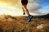 Outdoor Cross-Country Running in Early Sunrise Concept for Exercising, Fitness and Healthy Lifestyl Photographic Print by  Flynt