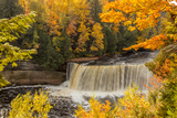USA, Michigan, Paradise, Tahquamenon Falls State Park, Upper Falls Photographic Print by Frank Zurey