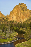 Smith Rock, Crooked River, Smith Rock State Park, Oregon, Usa Photographic Print by Michel Hersen