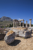 Greece, Peloponnese, Corinth, Ancient Corinth, Temple of Apollo Photographic Print by Walter Bibikow