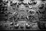 Engine Controls Aboard the Uss Midway in San Diego, Ca Photographic Print by Andrew Shoemaker
