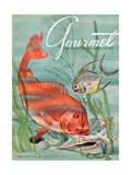Gourmet Cover - February 1951 Metal Print by Henry Stahlhut