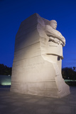 USA, Washington Dc, Martin Luther King Memorial, Dawn Fotografisk trykk av Walter Bibikow