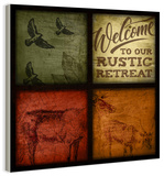 Rustic Wildlife Patchwork Wood Sign