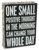 Positive Thought Box Sign Treskilt