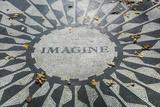Walter Bibikow - USA, New York, City, Central Park, John Lennon Memorial, Imagine Fotografická reprodukce
