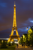 Twilight Below the Eiffel Tower, Paris, France Photographic Print by Brian Jannsen
