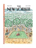 The New Yorker Cover - July 2, 2012 Metal Print by Edward Koren
