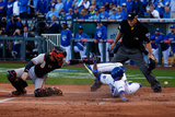 ALCS - Baltimore Orioles v Kansas City Royals - Game Four Photographic Print by Ed Zurga