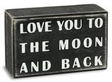 To The Moon Box Sign Treskilt