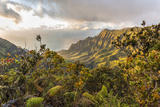 Overlooking the Kalalau Valley Right before Sunset Photographic Print by Andrew Shoemaker