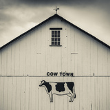 USA, Pennsylvania, Dutch Country, Smoketown, Barn with Cow Art Photographic Print by Walter Bibikow