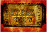 Freak Show Ticket 4 Prints