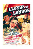 Lloyd's of London - Movie Poster Reproduction Poster