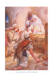 The Adoration of the Shepherds Giclee Print by Arthur A. Dixon