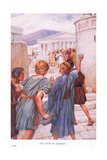 The Riot at Ephesus Giclee Print by Arthur A. Dixon