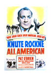 Knute Rockne All American - Movie Poster Reproduction Poster