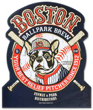 Boston Brew Wood Sign