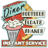 Root Beet, Floats, Shakes Wood Sign