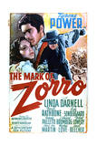 The Mark of Zorro - Movie Poster Reproduction Plakater