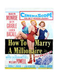 How to Marry a Millionaire - Movie Poster Reproduction Affiches