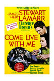 Come Live with Me - Movie Poster Reproduction Print