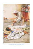 """Little Girl I Say Unto Thee, Arise"" Giclee Print by Arthur A. Dixon"