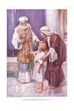 Hannah Presents Samuel to Eli Giclee Print by Arthur A. Dixon