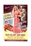 Lady on a Train - Movie Poster Reproduction Poster