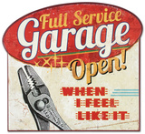 Full Service Garage Wood Sign