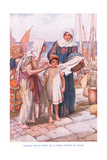 Dorcas Giving Help to a Poor Widow Giclee Print by Arthur A. Dixon