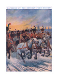 Napoleon at the Retreat from Moscow AD 1812 Giclee Print by Stanley L. Wood