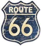 Route 66 Distressed Wood Sign Wood Sign