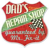Dad'S Repair Shop Wood Sign