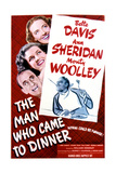 The Man Who Came to Dinner - Movie Poster Reproduction Art