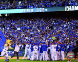 The Kansas City Royals celebrate winning Game 4 of the 2014 American League Championship Series Photo