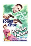 The Maltese Falcon - Movie Poster Reproduction Giclee-tryk i høj kvalitet